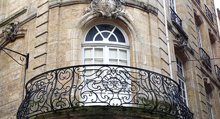 Adorned Bordeaux facades