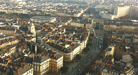 NANTES SEEN FROM ABOVE